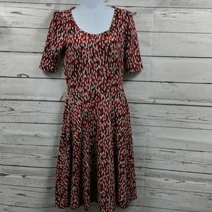 LuLaRoe Dresses - LuLaRoe black/red/white dress Size Small